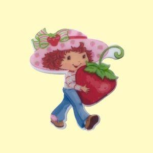 Handmade Pin Strawberry Shortcake Brooch Pink